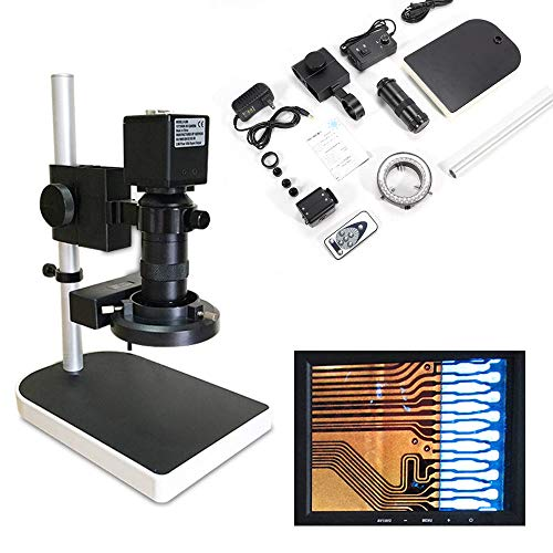 (HDMI FHD Digital Industry Camera Video Zoom Microscope Lens Lift Stand 16MP 1080P 10x-180x)