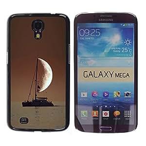 A-type Arte & diseño plástico duro Fundas Cover Cubre Hard Case Cover para Samsung Galaxy Mega 6.3 (Marinero En El Mar Media luna)