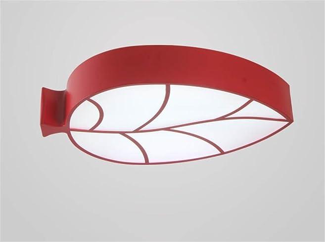 LILSN  Kinder Deckenlampe Modern Minimalist Blatt Form LED Wohnzimmer  Schlafzimmer Lampe Kindergarten
