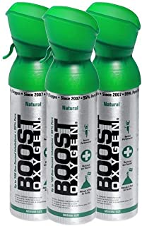 product image for 95% Pure Oxygen Supplement, Portable Canister of Clean Oxygen, Increases Endurance, Recovery, Mental Acuity and Performance (5 Liter Canisters, 3 Pack, Natural)