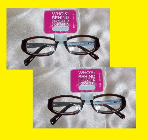 2 Pairs Elegant Womans Reading Glasses By Foster Grant Spring Hinges (1.00 strength) ()