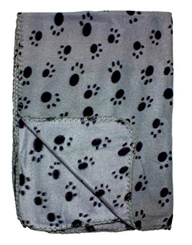 Gray Fleece Blanket Print Pattern