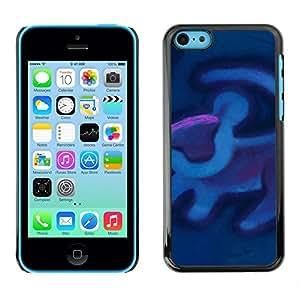 For Apple iPhone 5C Case , Violet - Diseño Patrón Teléfono Caso Cubierta Case Bumper Duro Protección Case Cover Funda