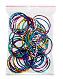 Hygloss Products Book Rings – 2 Inch Assorted Colored Steel Binder Rings, 50 Pack