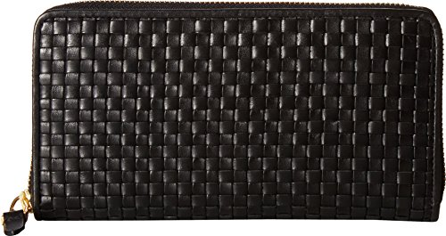 e Woven Continental Wallet, Black, One Size ()