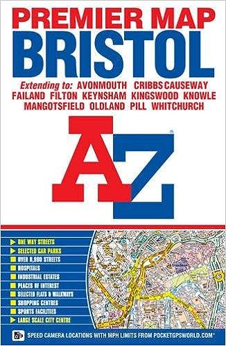 Map Of Bristol Uk.A Z Bristol Premier Map Amazon Co Uk Geographers A Z