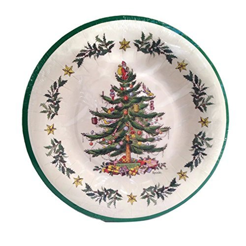 Spode Christmas Tree 8 Coated Dinner Plates by C.R. Gibson   ()