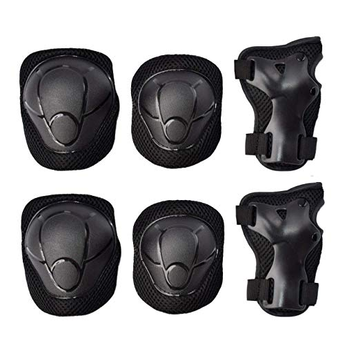 GOBEST Kids Protective Gear Set, Child Knee Pads Elbow Pads with Wrist Guards 3 in 1 for Boys and Girls Cycling Inline Roller Skating Biking Pack of 6 (Upgraded Vistion 3.0) – DiZiSports Store