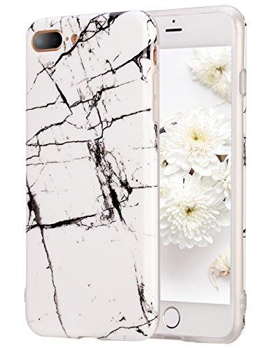 iPhone 8 Plus Case, iPhone 7 Plus Case, Tobomoco Slim Thin White Marble Design Soft TPU Phone Protective Case Cover for Apple iPhone 7/8 Plus [5.5 inch], Anti-Scratch, Anti-fingerprint, A14
