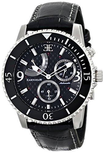 Thomas Earnshaw Men's ES-8008-01 Admiral Analog Display Automatic Self Wind Black Watch