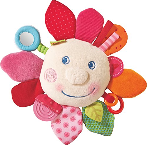 HABA Cuddly Spring Flower Teether - Soft Activity Toy with R