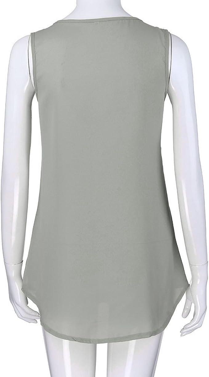 iLUGU Women V Neck Bandage Printed Black Vest Top Off Shoulder Blouse Tank Top Clothes