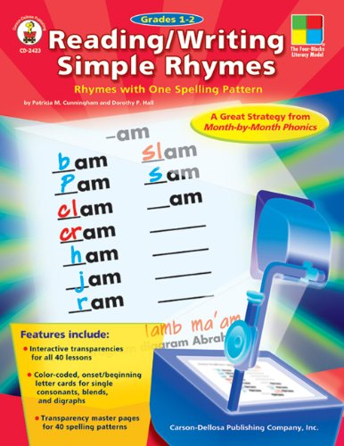 Reading/Writing Simple Rhymes, Grades 1 - 2: Rhymes with One Spelling Pattern (Four-Blocks Literacy Model) (The Four Blocks Literacy Model)