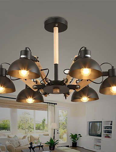 DXZMBDM® Zeitgenössisch LED / Ministil Korrektur Artikel Metall Kronleuchter Wohnzimmer / Esszimmer / Studierzimmer/Büro / Spielraum , 220-240v-black