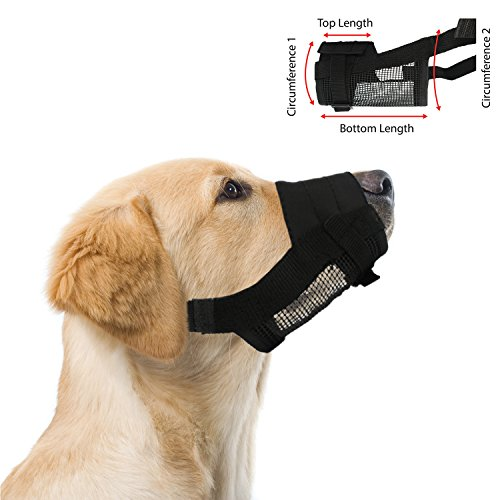 Adjustable Dog Grooming Muzzle - SMALL, fits snout size 5