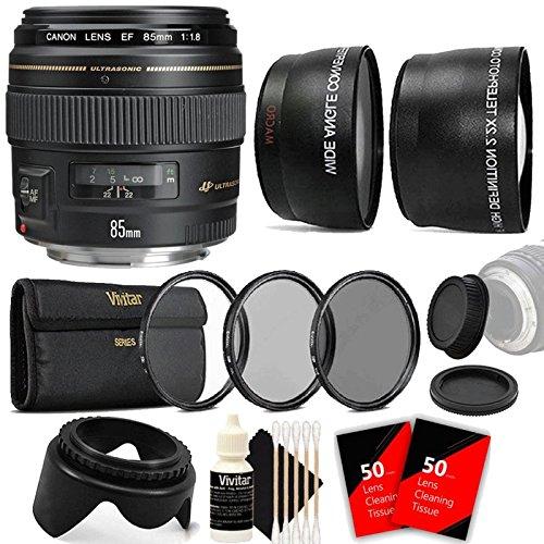 Canon EF 85mm f/1.8 USM ミディアム 望遠 オートフォーカスレンズ アクセサリー付き   B079LGK1WP