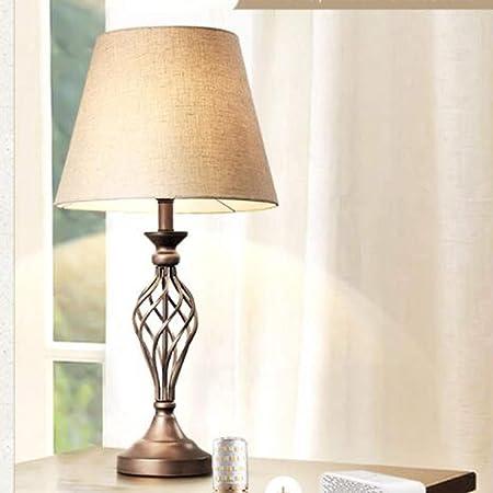 OHGQY 69 cm de Altura lámpara de Mesa Grande Lino Pantalla lámpara ...