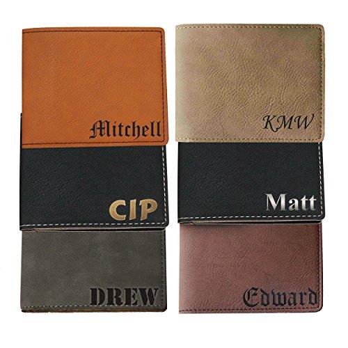 Monogrammed Personalized Bi-Fold Men's Wallet - Wedding Groomsman Engraved for Free