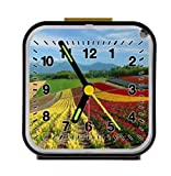 Japan Landscape country field crops mountain dAlarm Clock Alarm Clock Home Kitchen Decorative 3.27Inchd
