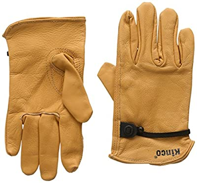 Kinco 035117990036 Unlined Grain Cowhide Work Gloves, Small