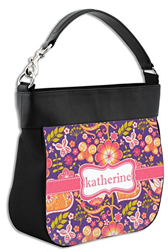 Trim Purse Leather Birds Hobo Genuine amp; amp; Back Front w Hearts Personalized qWRRwtU0