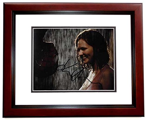 Kirsten Dunst Autographed - Hand Signed SPIDER-MAN Kiss Scene 8x10 Photo MAHOGANY CUSTOM FRAME - Spiderman