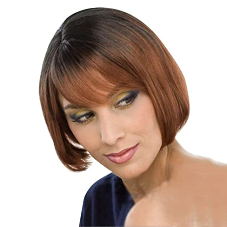 Amazon Com Aswigs Ombre Brown Bob Wigs For Women Short Straight