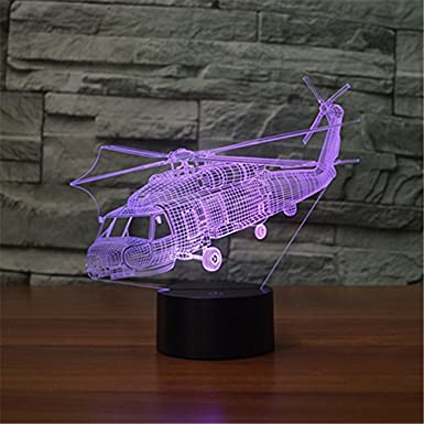 L/ámpara 3D L/ámpara de noche LED Anillo de Diamantes Decoraci/ón Escritorio de Mesa L/ámparas de Ilusi/ón /Óptica 7 Luces Cambiantes de Color