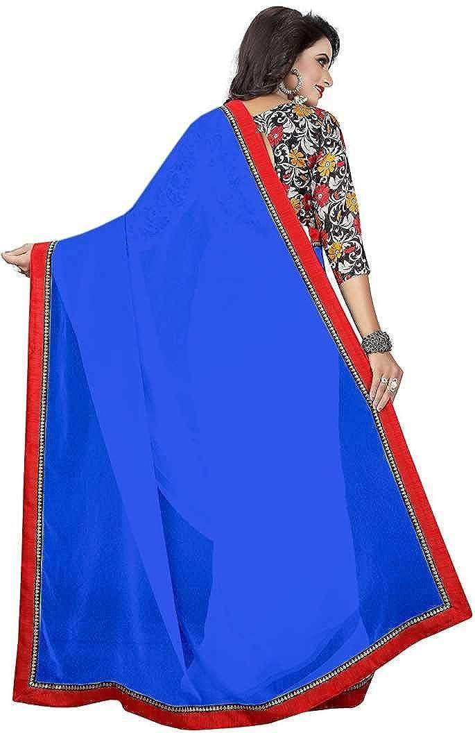 Indian bollywood wedding saree indisch Ethnic hochzeit sari new kleid damen casual tuch birthday crop top m/ädchen georgette women plain traditional party wear readymade Kost/üm