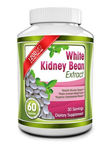 UPC 784672501521, Pure White Kidney Bean Extract Supplement - 1200mg per Serving - All Natural Carbohydrate and Starch Blocker - Best Formula for Weight Loss and Appetite Suppression - 60 Capsules