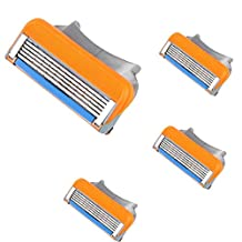 Changeshopping 4X Man Shaving Razor Refills Cartridge Blade 5-layer for Gillette Fusion
