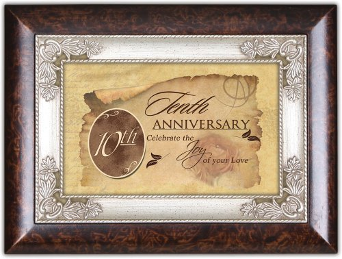 Tenth Wedding Anniversary Gift Cottage Garden Italian Inspired Music Jewelry Box Plays Unchained Melody