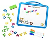 Magnetic Whiteboard Easel with 26 Alphabet Letters & Dry Erase Marker,Kids Educational Toys Double Side Dry Erase Board Puzzle Games for Boys Girls