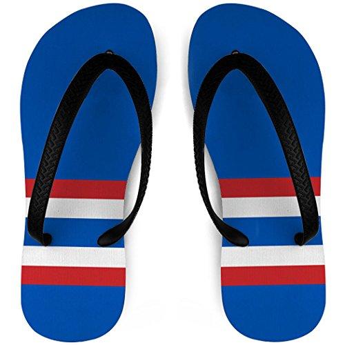 Hockey Slippers Sok Strepen Blauw / Rood