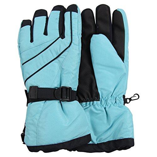 Women's Waterproof / Thinsulate Lined Ski Glove (Aqua/Black, (Aqua Skis)