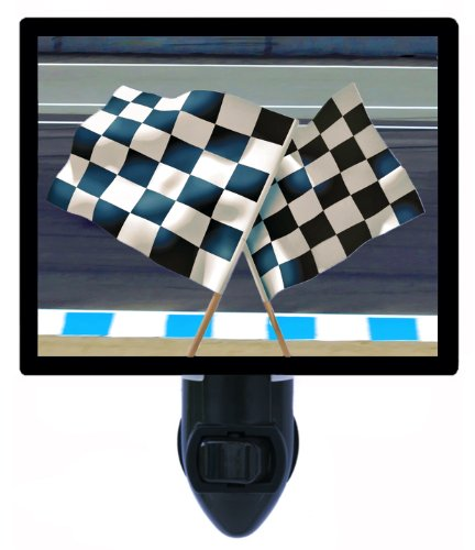Auto Racing Night Light - Checkered