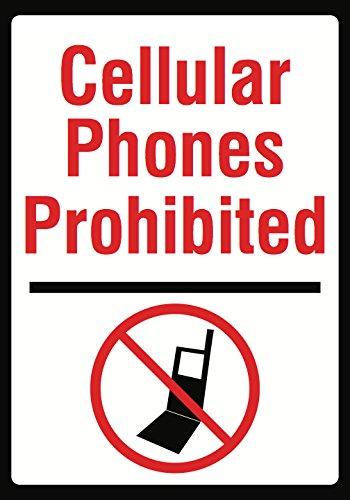 iCandy Combat Cellular Phones Prohibited Sign - 12 x 18 L...