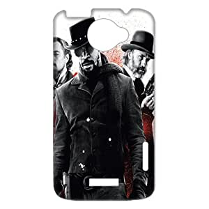 3D Print Hot Oscar Award Movie Series&Django Unchained Background Case Cover for HTC One X- Personalized Hard Cell Phone Back Protective Case Shell-Perfect as gift