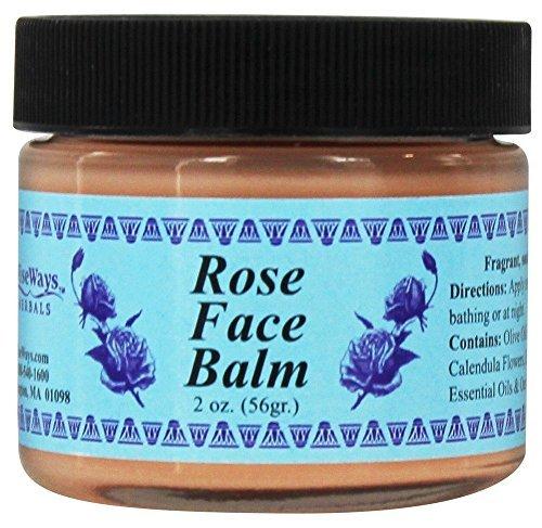 Rose Face Balm - WiseWays Herbals LLC Rose Face Balm 2 oz 56 g