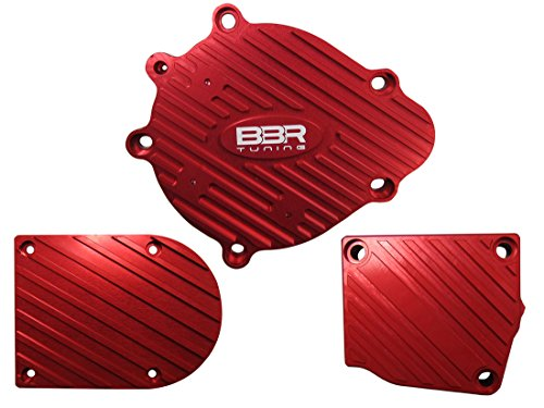 - BBR Tuning 2-Stroke Motorized Bicycle Engine Billet Aluminum Case Cover Set - Gas Bike Case Cover kit Accessory Upgrade (Red)