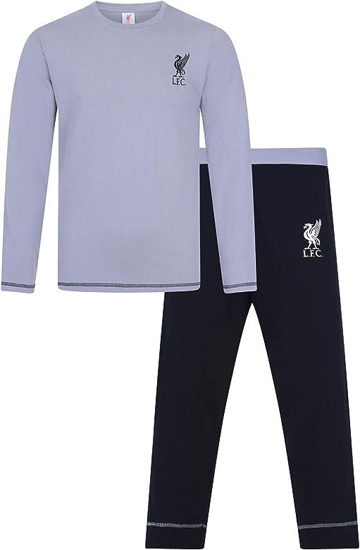 Pijama de fútbol para Hombre, diseño Oficial del Liverpool F.C. Gris Gris XL: Amazon.es: Ropa y accesorios
