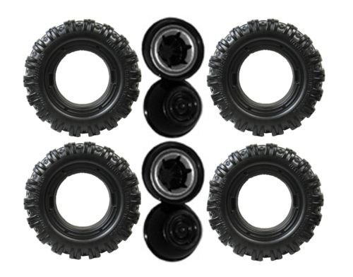 Power Wheels K7112 Green Jeep Hurricane Replacement Wheel- 4 Pack