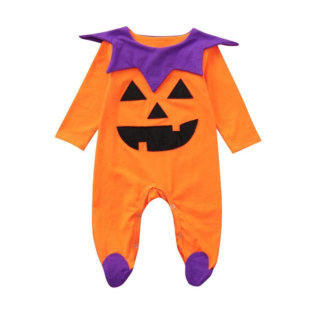 QinMM Peleles de Halloween para bebé niña y niño, Mono Body de Primavera otoño de Manga Larga,