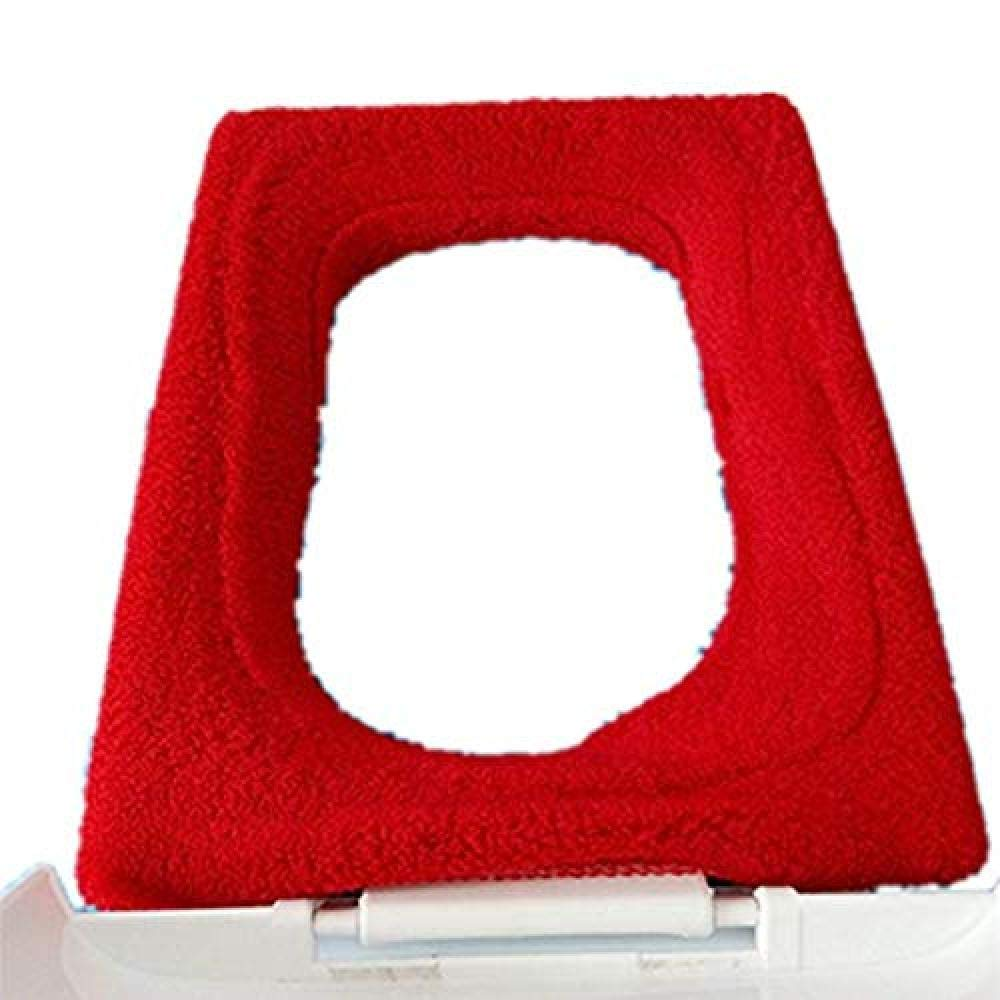 YouNB Toilet Seat Cushion for Seniors Square Non-Slip Seat Cover Thicken Soft Warmer Comfy Can Be Washed Mat for Bathroom-F 1-11 by YouNB