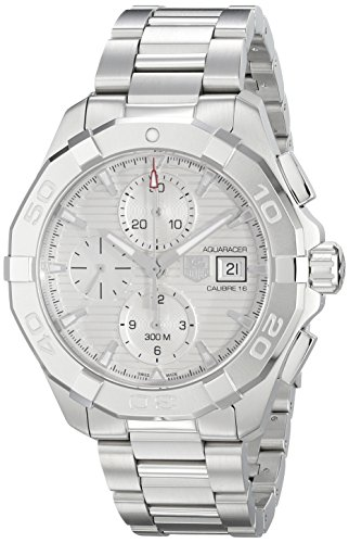 Aquaracer Silver Dial - TAG Heuer Men's CAY2111.BA0925 Aquaracer Analog Display Swiss Automatic Silver Watch