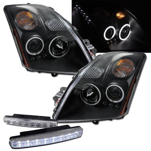 2007 Nissan Sentra Ccfl Halo Projector Headlights + 8 Led Fog Bumper Light