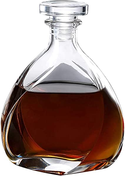Decantador, 700ML Whisky Decanter - Sin Plomo Cristal Moderno ...
