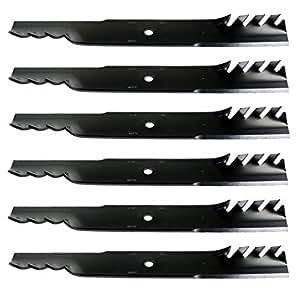 """6Estados Unidos cortacésped cuchillas para EXMARK 103–2530-s, 103–3231, 116–5173-s, 60""""Cubierta"""