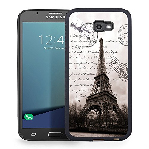 Ftfcase Compatible to Samsung Galaxy J7 2017 Case, J7 2017(AT&T), J7 Sky Pro, J7 Perx case TPU Rubber Gel Design with Samsung Galaxy J7 V 2017 - Restoring Ancient Ways is The Eiffel Tower