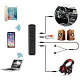 Bluetooth Car Kit,Portable Wireless Audio Adapter 3.5mm Aux Stereo Output Bluetooth 4.2 and Built-in Microphone for Home Audio Music Streaming Sound System